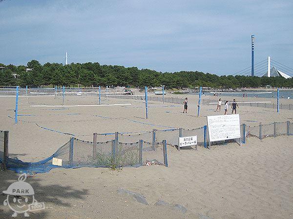 砂浜 ビーチバレー広場