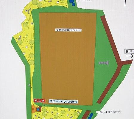 パークゴルフコース案内図