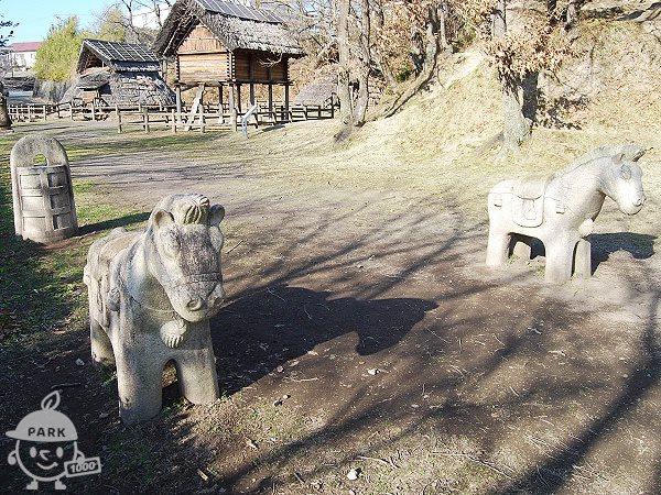 お馬さんのモニュメント