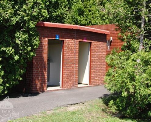 トリムコース入口近くのトイレ