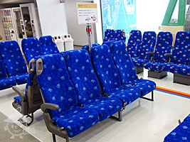 本物のバス座席