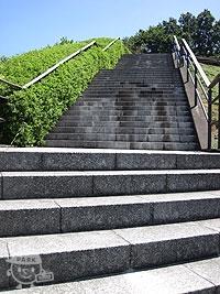 展望広場へ向かう階段