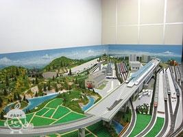 鉄道ジオラマ模型