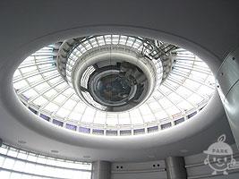 アトリウム(地球の広場)の天井
