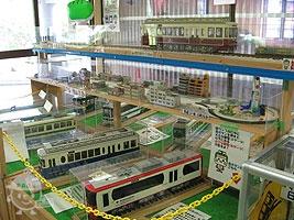 鉄道模型の運転ができる