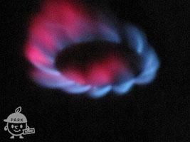 ガスの色の変化
