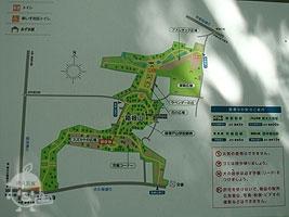 箱根山地区の案内図