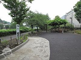 ベンチと自転車置き場