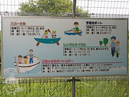 ボートやカヌーの案内板