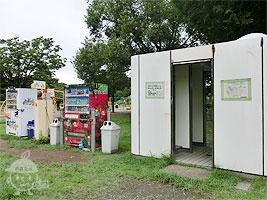 自動販売機とトイレ