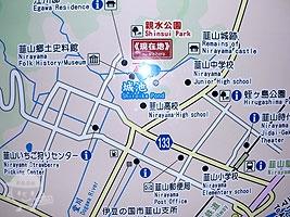 城池親水公園周辺の地図