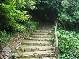 浜松城天守閣へと繋がる階段