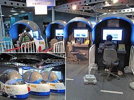 簡易シミュレータ 第一航空団で訓練している学生と同じ飛行コースを体験できます。