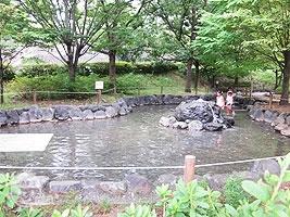 水遊びができる池