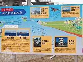 富津岬 歴史観光案内版