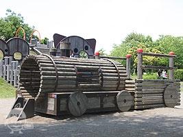 機関車の遊具