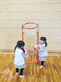 アリーナのミニバスケット