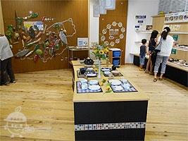 食の体験展示コーナー