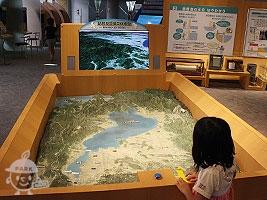琵琶湖流域立体模型