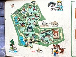 こども動物園案内図