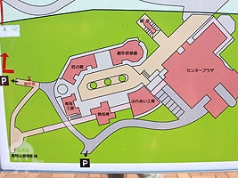笠間工芸の丘案内図