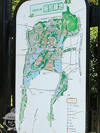 服部緑地案内図