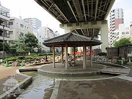 噴水流れ(じゃぶじゃぶ池)