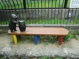 ウォンバットのベンチ