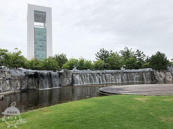 霞港公園、池
