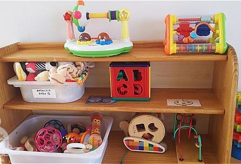 赤ちゃんコーナーのおもちゃ