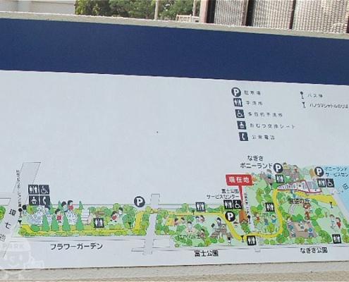 公園案内図(東側)