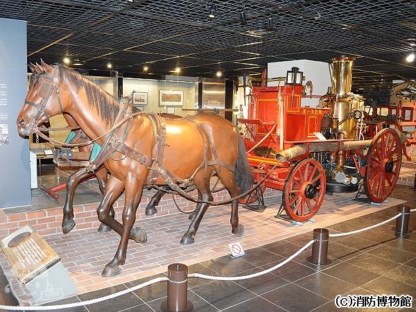 馬牽き蒸気ポンプ