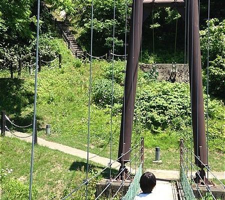 つり橋から階段へ